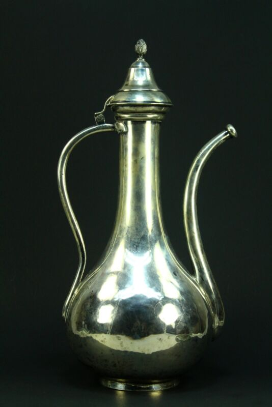 !SUPERB Antique Thick Silver Ottoman Turkish IBRIK Water Jug Ewer - 1226g