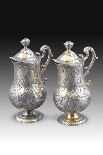 Gilt Silver Cruet Set, Pamplona Hallmarks, Spain, 18th Century