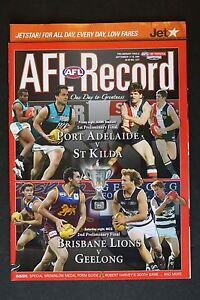 2004  Preliminary finals football record footy Port St Kilda Brisbane Geelong
