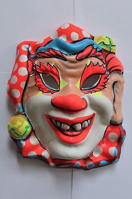 Vintage 1960's Clown Jester Ben Cooper Collegeville Halloween Mask