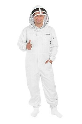 Varomorus Professional Beekeeping Suit Full Body 100 Cotton With Veil Hood
