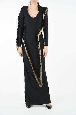 FAUSTO PUGLISI women Dresses Black Bodycon Sz 40 IT Long Sleeve Full Length ...
