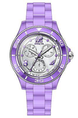 Invicta Women's 30371 Anatomic Quartz 3 Hand Silver, Purple Dial Watch
