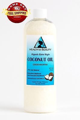 COCONUT OIL Unexpectedly VIRGIN UNREFINED ORGANIC CARRIER COLD PRESSED RAW PURE 16 OZ