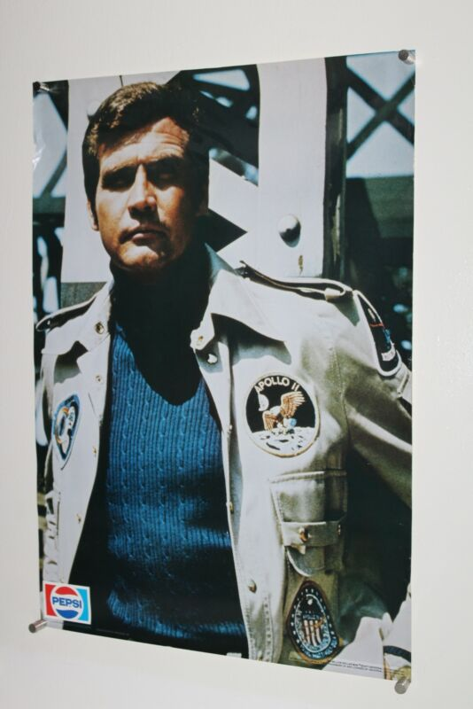 Vintage Pepsi Promotional Poster 1977 SIX MILLION DOLLAR MAN Lee Majors