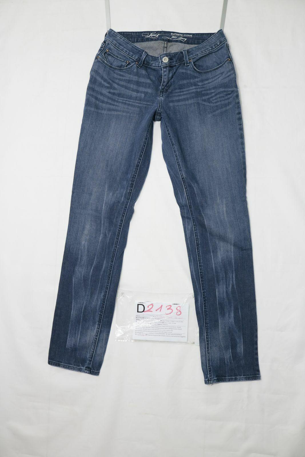 Levi's supreme curve skinny utilisé (cod.d2138) w30 l32 jeans femme taille basse