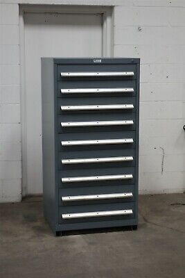 Used Nu-era 9 Drawer Cabinet Industrial Tool Parts Storage 2198 Vidmar