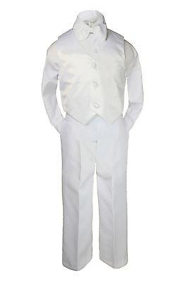 4pc Baby Kid Boy Wedding Communion Baptism Christening Bow Tie Suit sz S,M L-20 - Boys Communion Ties