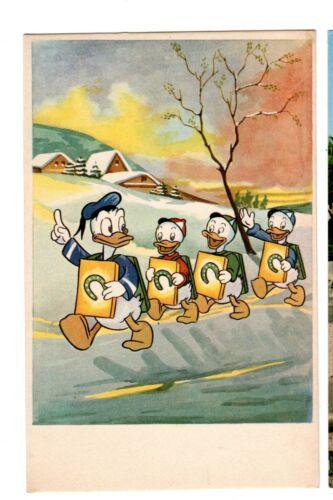 1956 Donald Huey Dewey Louis postcard unposted Copyright Disney Pade in Spai