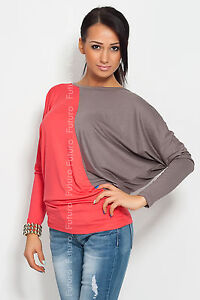 ☼ Two Colors Women's Tunic ☼ Batwing Blouse Kimono Crew Neck Size 8-18 6042