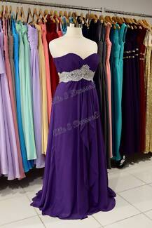4 x Strapless formal/bridesmaid dresses