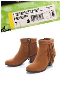 Sam Edelman Louie boots booties with fringe size 7 US