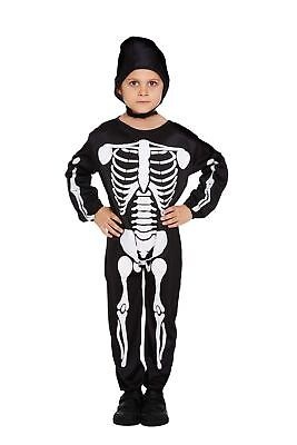 Halloween Skeleton Fancy Dress Up Childs Costume Outfit Party Boys Dressing Up