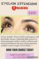 Eyelash Extensions Training $399 Kit included