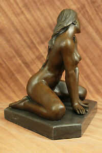 Original Nino Nude Erotic Female Bronze Sculpture Statue Figurine Home Deco SALE