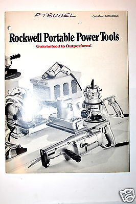 Rockwell Portable Tools Canadian Catalog 1971 Rr337 Saw Drill Sander Grinder