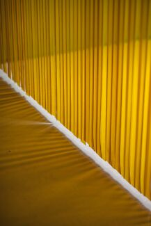 Yellow Plastic PVC Strip Curtain