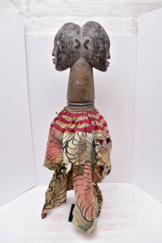 Large Vintage African Yoruba Gelede Helmet Mask Janus Figure Antique headdress