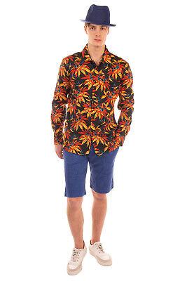 SSS WORLD CORP. Shirt Size L Floral Long Sleeve Button Front Regular Collar