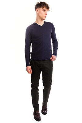RRP €125 HANNES ROETHER Jumper Size S Thin Knit Garment Dye Made in Portugal