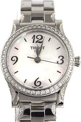 Neu Tissot T-Classic T-Stylis Diamant Swiss Perle Damen Armbanduhr (Tissot Uhr Damen Classic)