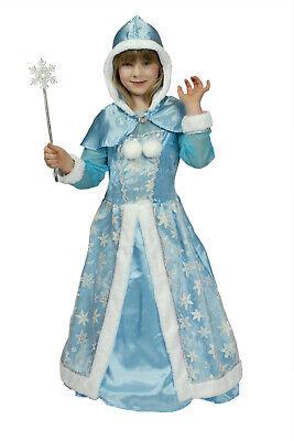 Kostüm Schneekönigin Eisprinzessin Schneeflocke blaue Prinzessin Kinder - Kinder Schnee Prinzessin Kostüm