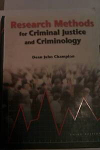 Research Methods for Criminal Justice and Criminology - Champion Canberra City North Canberra Preview