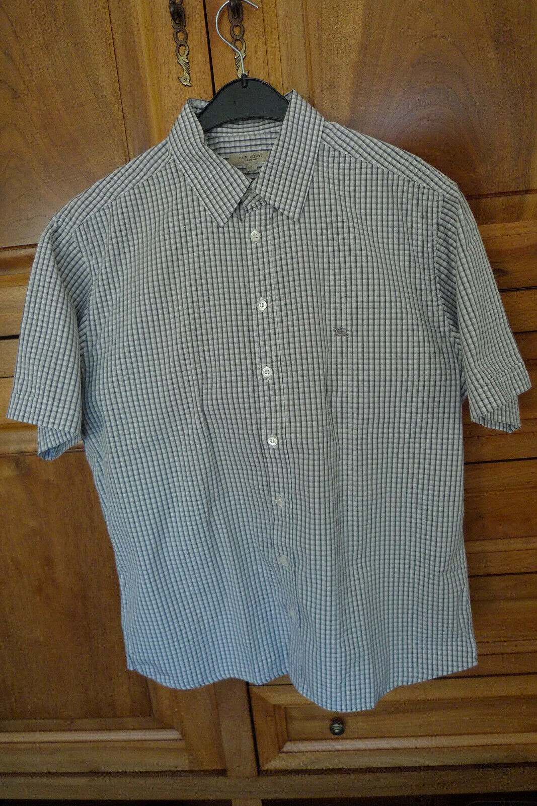 Chemise burberry manches courtes taille l