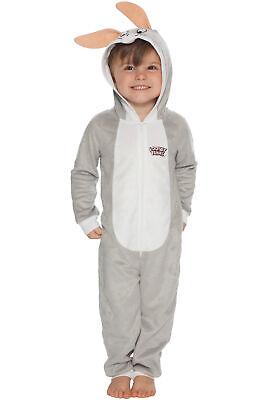Bunny Pajamas For Kids (Looney Tunes Boys Bugs Bunny Costume Pajamas One Piece Kids Union)