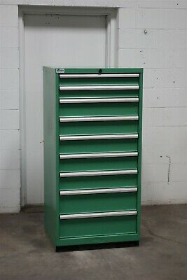 Used Lista 9 Drawer Cabinet Industrial Tool Storage Bin 2165 Vidmar