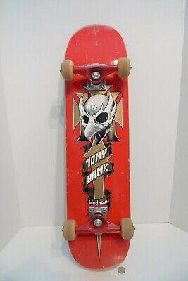 Tony Hawk Birdhouse Skateboard Skull Crest Red Deck w/ Spitfire & Silver Trucks