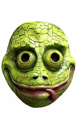 Latex Chameleon Mask Scary Halloween Adult Kids Fancy Dress Costume Face NEW