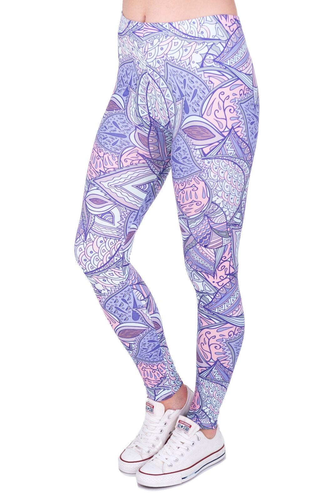 Damen 's Yoga Bedruckt Leggings dehnbar Training Joggen Fitness Hose Unterlage