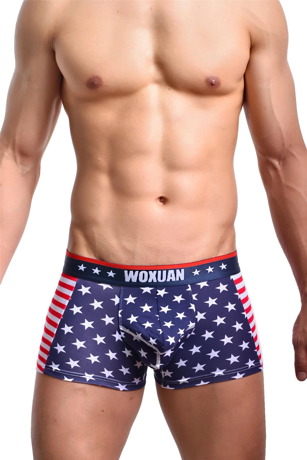 4c0641ac1b34 Mens Vest Leotard Underwear American Flag Printed Sexy Boxer Briefs Shorts  Pants