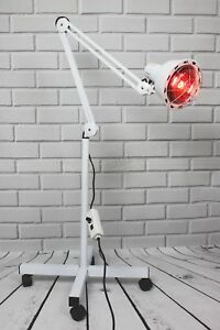 FoxHunter Infrared Floor Stand Heat Lamp Health Pain Relief Therapy 275W White