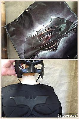 Boys BATMAN HALLOWEEN COSTUME + Mask PLUS **TRICK-or-TREAT BAG BACKPACK** 8-10 M