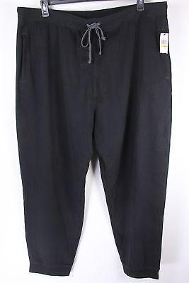 New Nautica Mens Active Pants Sweat Fleece Black 4XLT Sweatpants