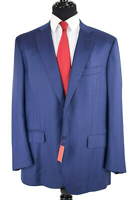 ISAIA Current NWT/NWD Solid Blue Travel Blazer Size US 48R Sanita
