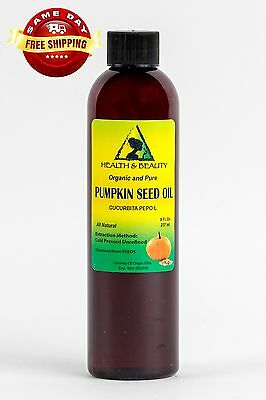 (PUMPKIN SEED OIL UNREFINED ORGANIC CARRIER COLD PRESSED VIRGIN RAW PURE 8 OZ)