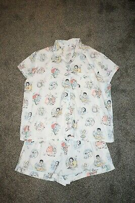 Rare Disney Store Japan Women's Pajamas Young Princess Pajama Top & Shorts (Young Women Stores)