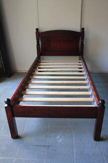 Single Mahogamy Wood Bed excellent condition, Brand new