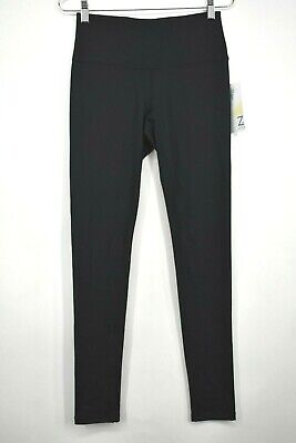Z by Zella Womens Solid Black High Waisted Leggings Skinny Fit Anti Chafe Sz S