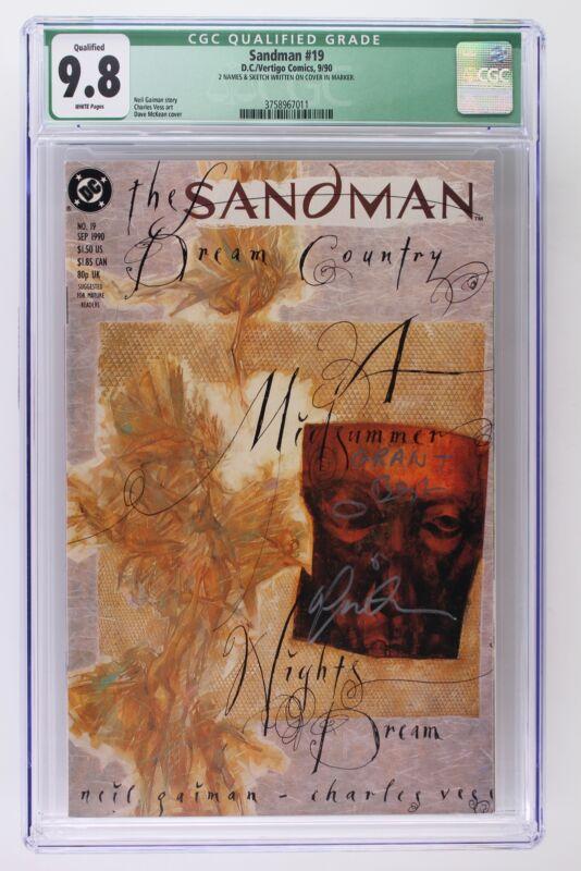 Sandman #19 - DC/Vertigo 1990 CGC 9.8 - Signed!