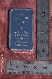 1x 1oz Southern Cross 'Eureka' minted 99.9% .999 pure bullion silver bar