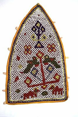 Vintage Rajasthani Heavy Beaded Work Indian Wall Hanging Décorative. i17-349 UK