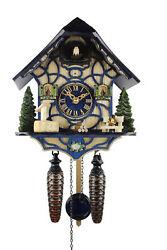 Adolf Herr Quartz Cuckoo Clock - Magic Blue AH 34 QM NEW