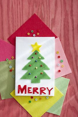 Funny Christmas Card Made with love (used)