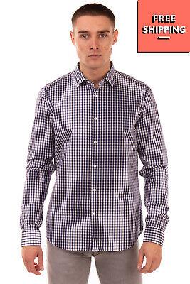 OBVIOUS BASIC Shirt Size 40 / 15 3/4 M Gingham Pattern Button-Up Regular Collar