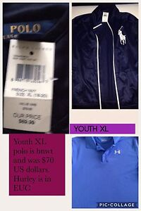 Youth XL polo,  under Armour,  New York Knicks and marlins