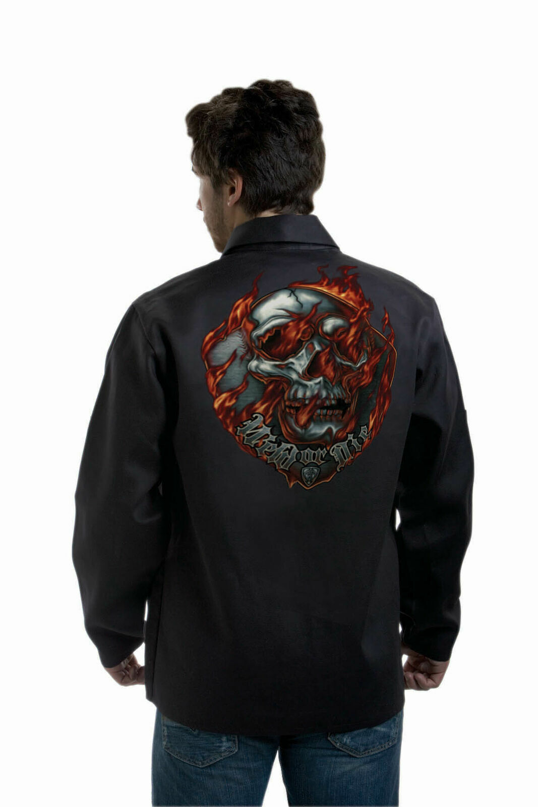 """Tillman 9062 Onyx  FR Welding Jacket """"Weld or Die"""" Various Sizes Small-3XLarge Business & Industrial"""